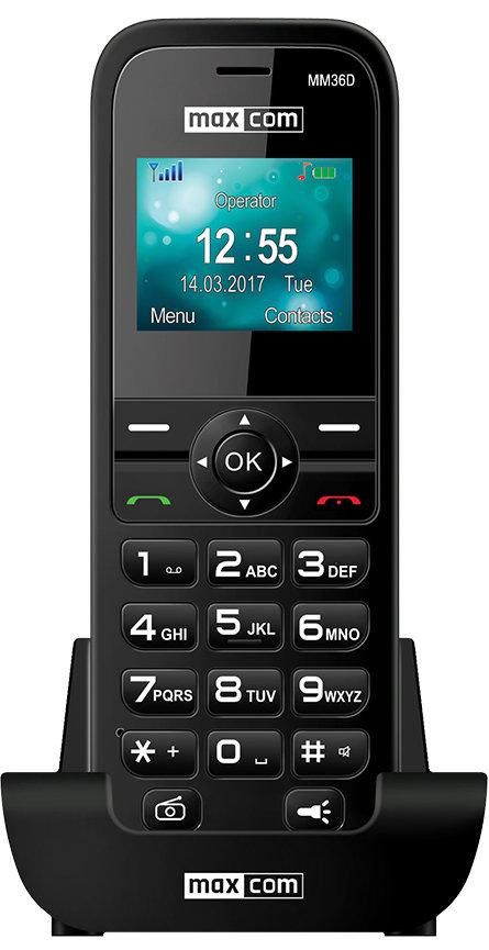 Telefon MAXCOM MM36D Czarny