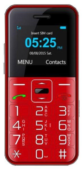 Telefon MYPHONE Halo Easy Czerwony