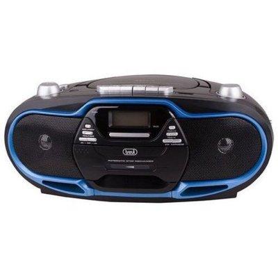 Radioodtwarzacz TREVI CM P574 Czarno-niebieski + Kaseta gratis Electro 853504