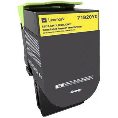 Toner LEXMARK 71B20Y0 Żółty Electro 886389