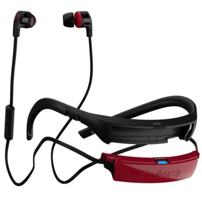 Słuchawki dokanałowe SKULLCANDY Smokin Buds 2 Wireless Czarno-czerwony Electro 265213
