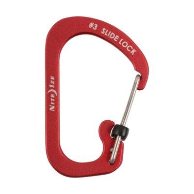 Karabińczyk NITE IZE Slidelock #3 Czerwony Electro 234671