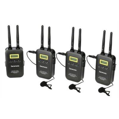 Bezprzewodowy zestaw audio SARAMONIC VmicLink5 RX5 + TX5 +TX5 + TX5 Electro 367786