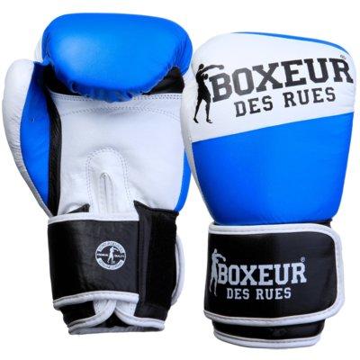 Rękawice bokserskie BOXEUR BXT-591 (10 oz) Niebiesko-biały Electro 587777