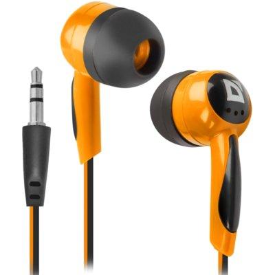 Słuchawki dokanałowe DEFENDER Basic 604 Czarno-pomarańczowy Electro 522341