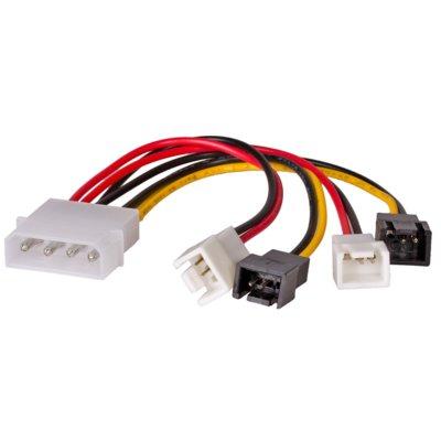 Adapter AKYGA Molex – 2 x 3-pin 12V – 2 x 3-pin 5V Electro 893317