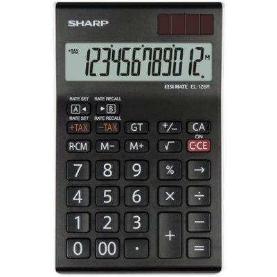 Kalkulator SHARP EL126RWH Czarny Electro 401197