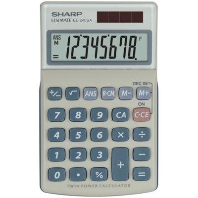 Kalkulator SHARP Handheld Blister EL240SAB Szary Electro 393757