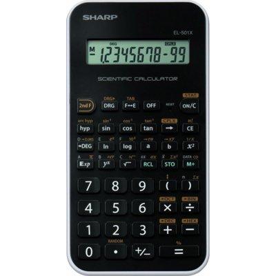 Kalkulator SHARP EL501XWH Czarny Electro 375170