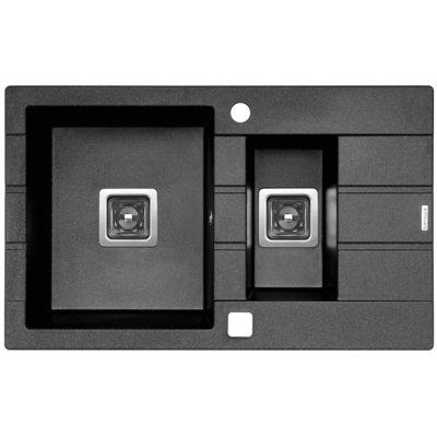 Zlewozmywak PYRAMIS Arkadia (78×48) 1½B 1D 070015701 Grafitowy metalik Electro 473686