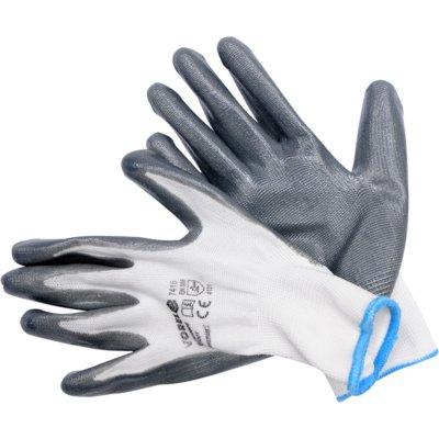 Rękawice robocze VOREL 74153 Szary (rozmiar 9)
