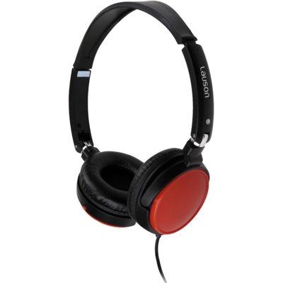 Słuchawki nauszne LAUSON PH163 Czarno-czerwony Electro 935895