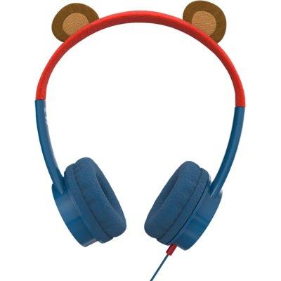 Słuchawki nauszne ZAGG iFrogz Little Rockerz Niedźwiedź Niebiesko-czerwony Electro 697117