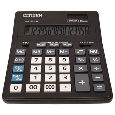 Kalkulator CITIZEN CDB1601-BK Czarny Electro 424846