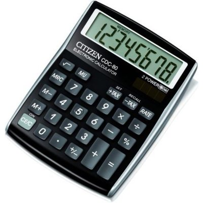 Kalkulator CITIZEN CDC-80BKWB Czarny Electro 405589