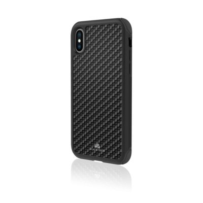 Etui BLACK ROCK Robust Real Carbon do Apple iPhone Xs Czarny Electro 896201