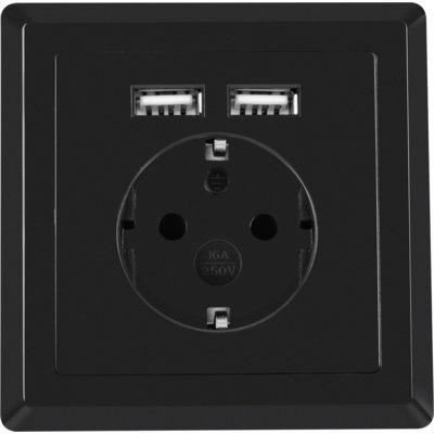 Gniazdo sieciowe LANBERG AC-WS01-USB2-F-B Electro 486289