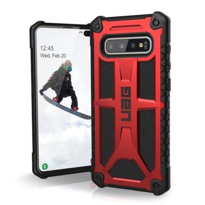 Etui UAG Monarch do Samsung Galaxy S10+ Czerwony Electro 896636