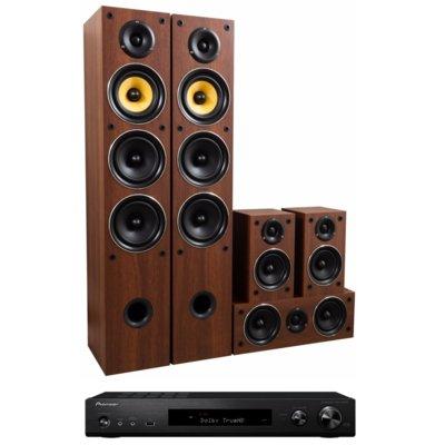 Kino domowe PIONEER VSX-S520-B + TAGA TAV-506 v.2 Orzech Electro 898264