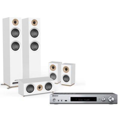 Kino domowe PIONEER VSX-S520-S + JAMO S 807 Biały Electro 898276