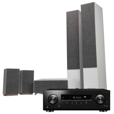 Kino domowe PIONEER VSX-534B + JAMO S 809 HCS Biały Electro 550050