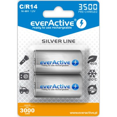 Akumulatorki C 3500mAh EVERACTIVE Silver Line (2 szt.) Electro 562138