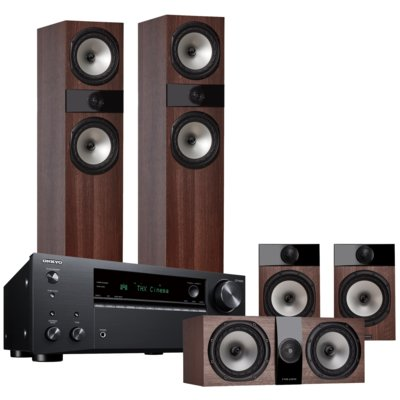Kino domowe ONKYO TX-NR696B + FYNE AUDIO F303/F301/F300C Orzech Electro 551785