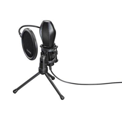 Mikrofon HAMA MIC-USB Stream Czarny