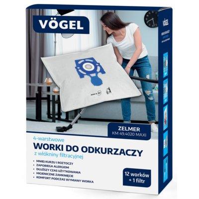 Worki do odkurzacza VÖGEL KM 49.4020 (13 sztuk) Electro 552271