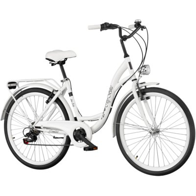 Rower miejski DAWSTAR Citybike S7B Biały Electro 557443
