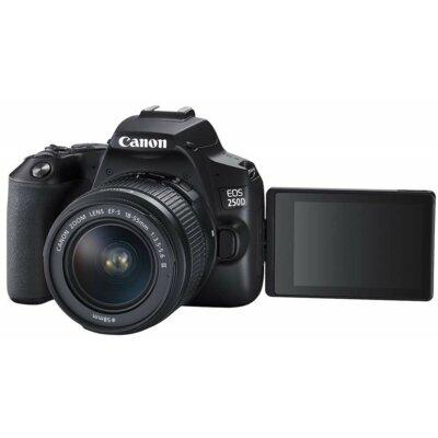 Aparat CANON EOS 250D + Obiektyw EF-S 18-55 mm f/3.5-5.6 III + Obiektyw 75-300 mm f/4-5.6 III