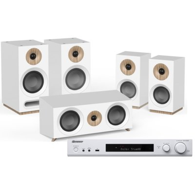 Kino domowe PIONEER VSX-S520D-W + JAMO S 803 HCS Biały Electro 562700