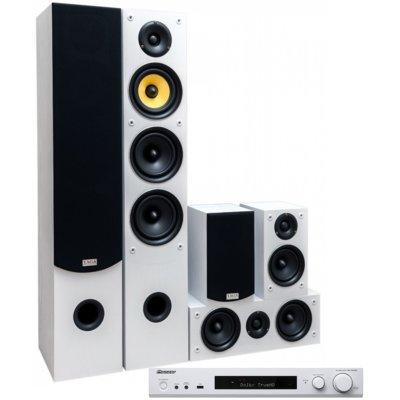 Kino domowe PIONEER VSX-S520D-W + TAGA TAV-506 Biały Electro 562702