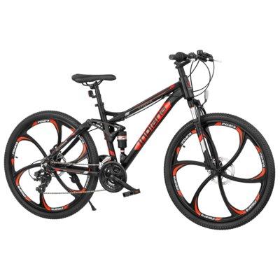 Rower górski MTB INDIANA X-Rock 4.6 M18 Czarno-czerwony Electro 562870
