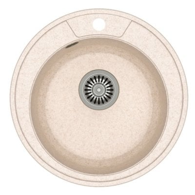 Zlewozmywak QUADRON Danny 210 GraniteQ HB8301U3-BS Stalowy/Beżowy metalik Electro e1253173