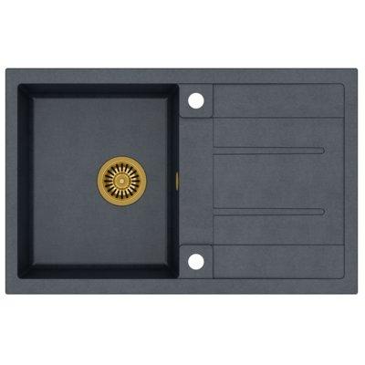 Zlewozmywak QUADRON Morgan 111 GraniteQ HB8203U8-G1 Złoty/Czarny metalik Electro 113228