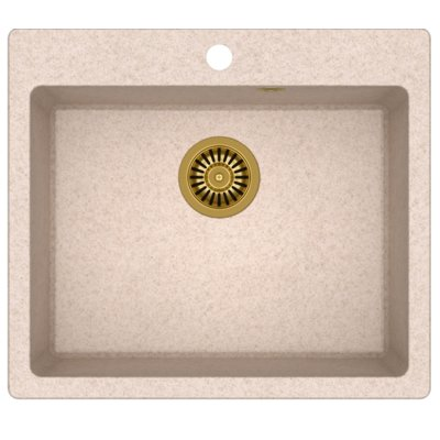 Zlewozmywak QUADRON Morgan 110 GraniteQ HB8304U3-G1 Złoty/Beżowy metalik Electro e1253186