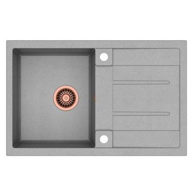 Zlewozmywak QUADRON Morgan 111 GraniteQ HB8203U5-C1 Miedziany/Szary metalik Electro e1253157