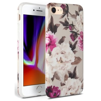 Etui TECH-PROTECT Floral do Apple iPhone 7/8/SE 2020 Beżowy Electro 310557