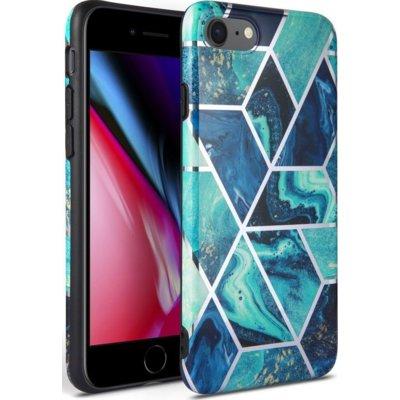 Etui TECH-PROTECT Marble do Apple iPhone 7/8/SE 2020 Niebieski Electro 310573