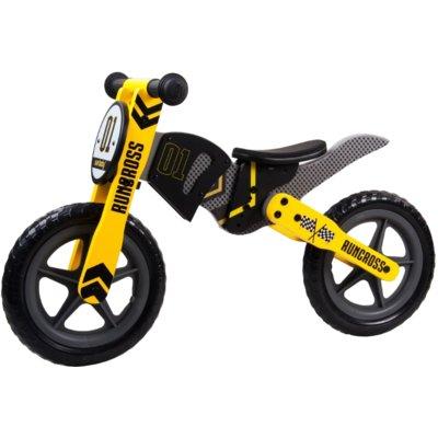 Rowerek biegowy SUN BABY RunCross Czarno-żółty Electro 318619