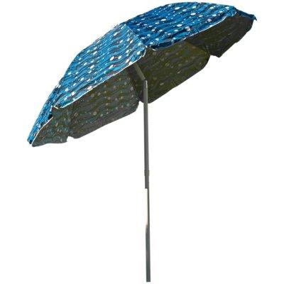 Parasol ROYOKAMP Plażowo-ogrodowy 220 cm Niebieski Electro 179057