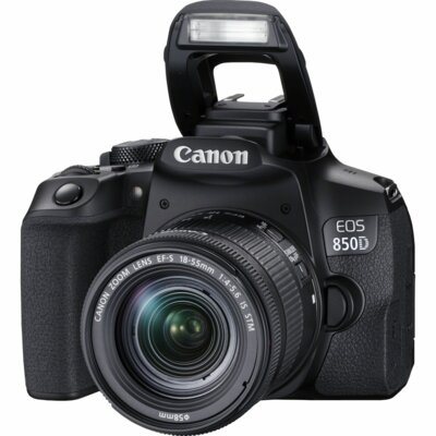 Aparat CANON EOS 850 D Czarny + Obiektyw 18-55 S IS STM