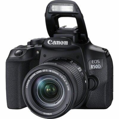 Aparat CANON EOS 850 D Czarny + Obiektyw 18-55 S CP EU26