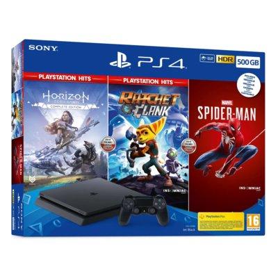Konsola SONY PlayStation 4 Slim 500GB + Spider-Man + Horizon Zero Dawn + Ratchet & Clank Electro 331613