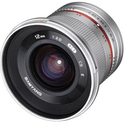 Obiektyw SAMYANG 12mm f/2.0 NCS CS Sony E Srebrny