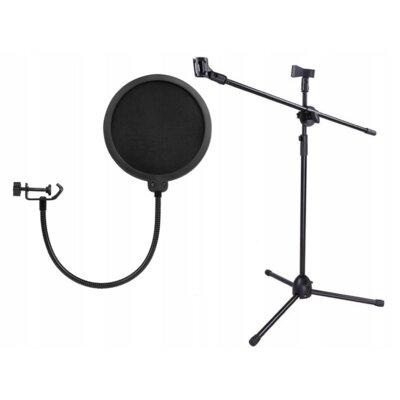 Filtr mikrofonowy + statyw XREC SB4524
