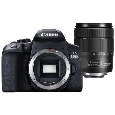Aparat CANON EOS 850D Czarny + Obiektyw EF-S 18-135 mm f/3.5-5.6 IS USM