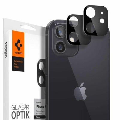 Szkło hartowane SPIGEN Optik.Tr Camera Lens do Apple  iPhone 12 Czarny