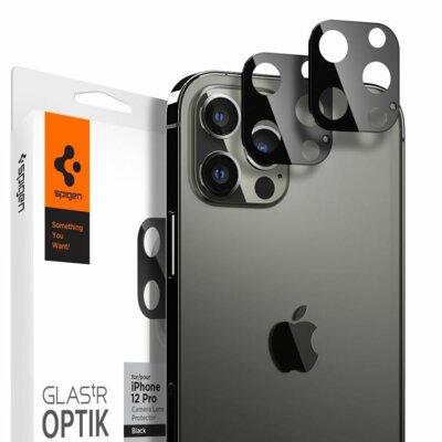Nakładka na obiektyw SPIGEN Optik.Tr Camera Lens do Apple iPhone 12 Pro Czarny